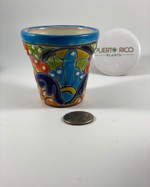 Blue Petal Planter (Mexico) E