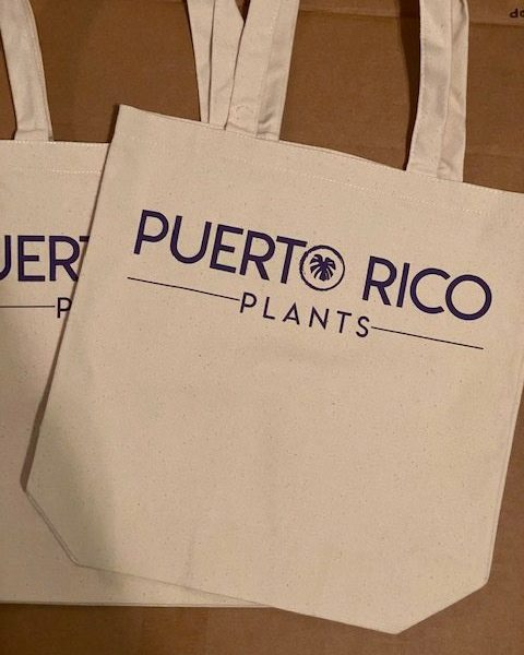 Puerto Rico Plants Canvas Tote (Purple)