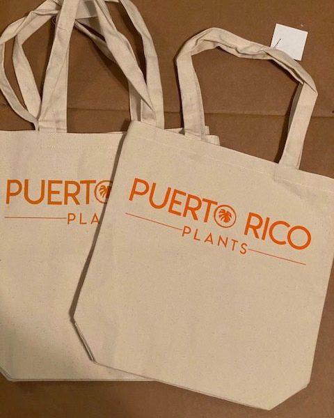 Puerto Rico Plants Canvas Tote (Orange)